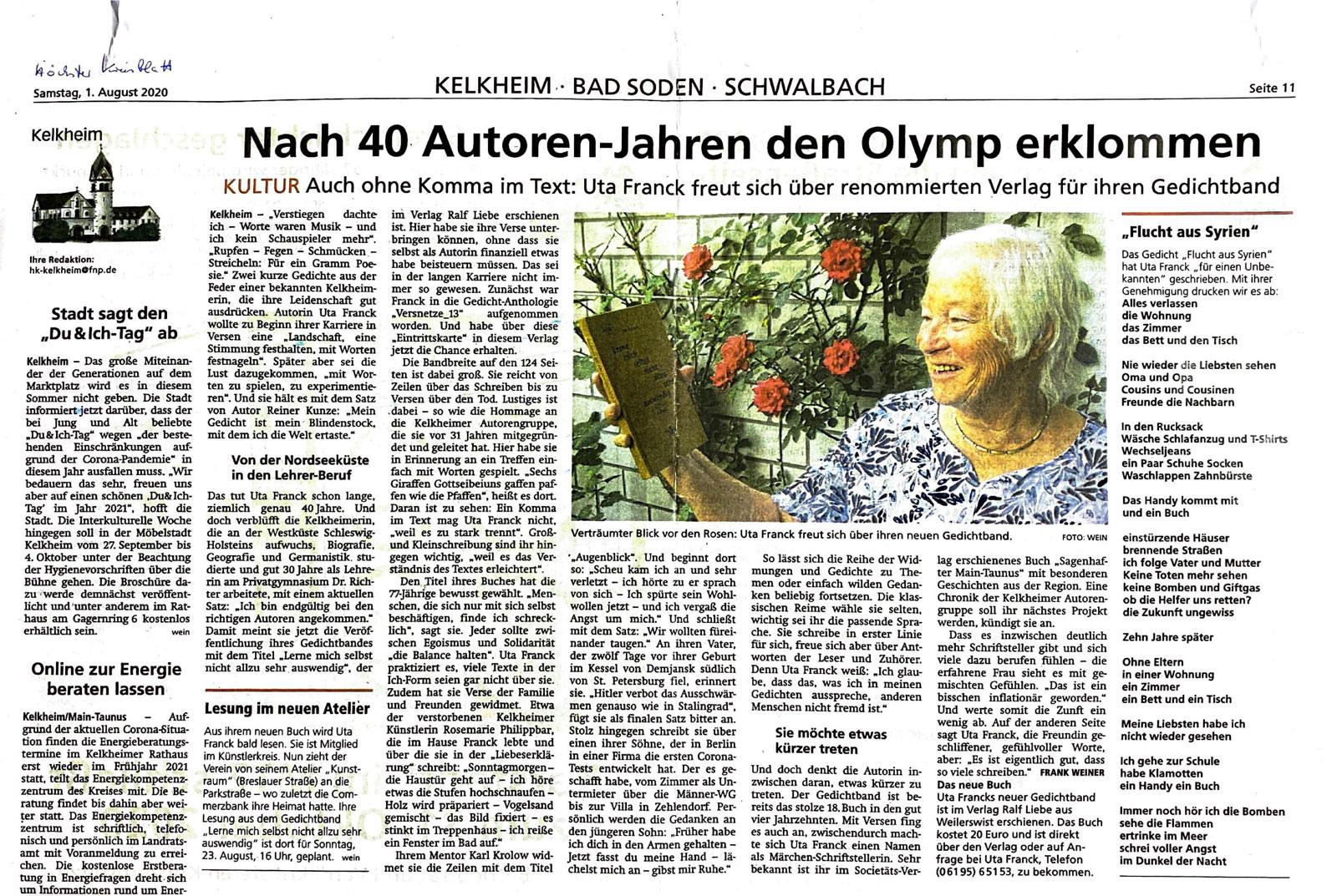 Nach 40 Autoren-Jahren den Olymp erklommen